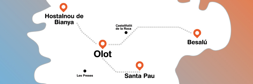 Mapa Garrotxa