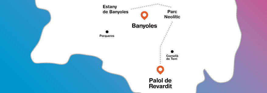 Mapa del Pla de l'Estany