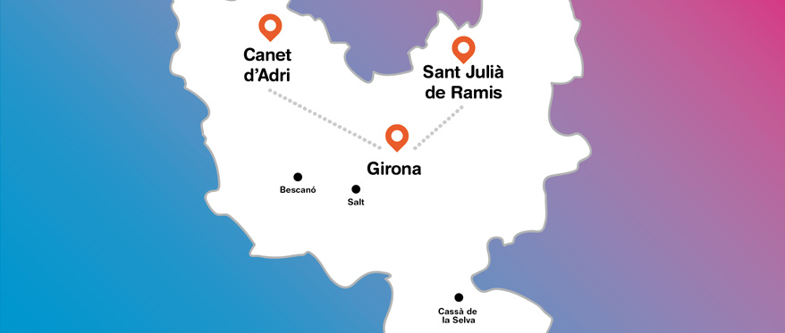 Mapa del Gironès